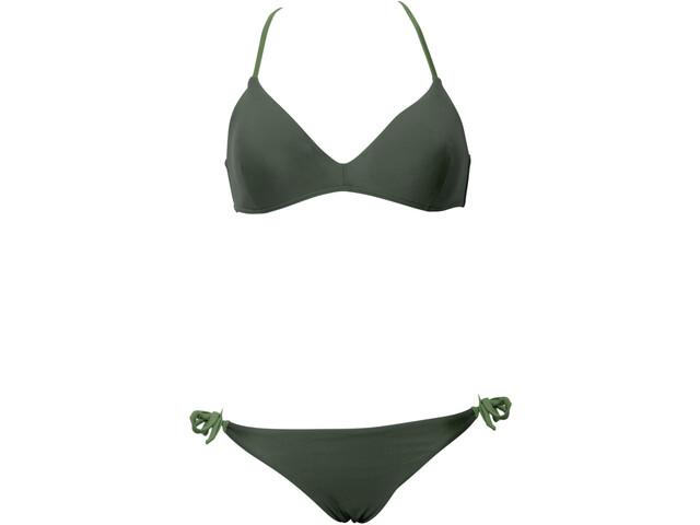 arena Solid Triangle Bikini Women, oliwkowy